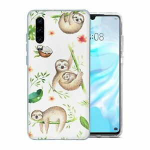 For-Huawei-P30-Silicone-Case-Cute-Sloth-Pattern-S6073