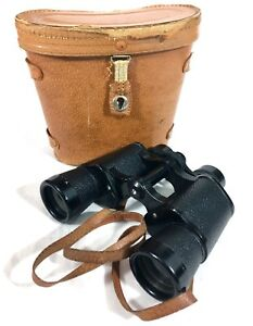 Vintage-Binoculars-in-Leather-Case-HOLL-CO-Coated-Optics-7x35-B47