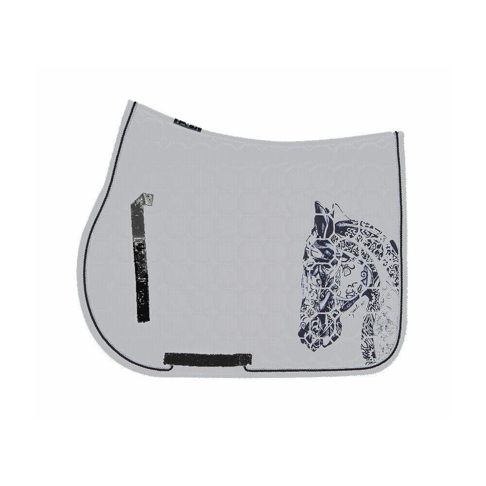 Equiline Holly octagone Saddle cloth-aluminio-decrépita