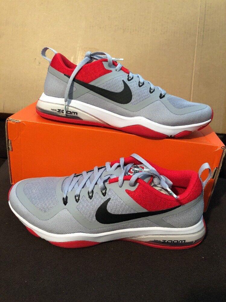 Women's Nike Zoom Fitness Ohio State Buckeyes 905897-006 Grey  Red Black Sz 10