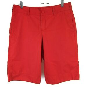 Merona-Womens-Shorts-Cotton-High-Casual-Waist-Size-12