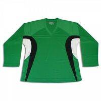 Green Hockey Jersey W/name And Number Dry Fit Edge Inspired Green/black/white