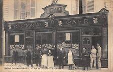 CPA 51 EPERNAY CAFE DE LA PAIX MAISON DELMOTTE GABRIEL RUE DE CHALONS (rare