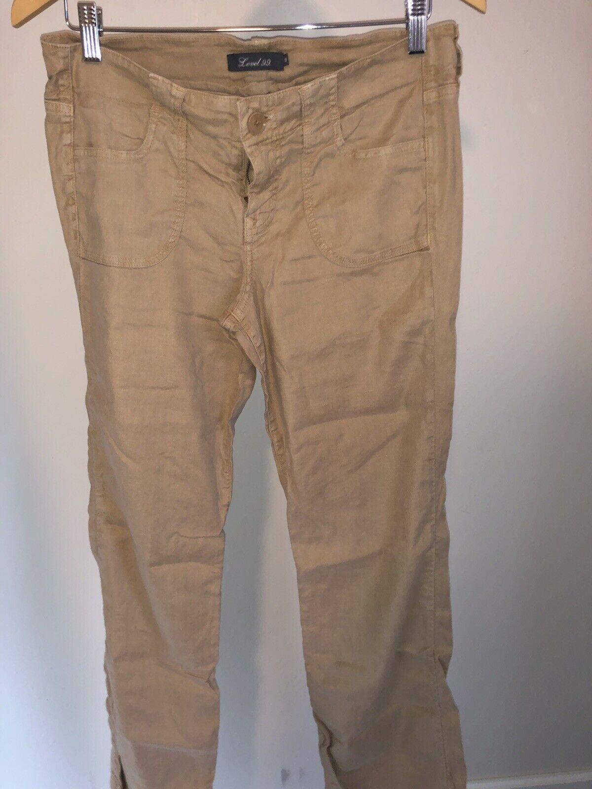 Level 99 Frankie Linen Blend Wide Leg Pant, Size 29 - Orig.  105