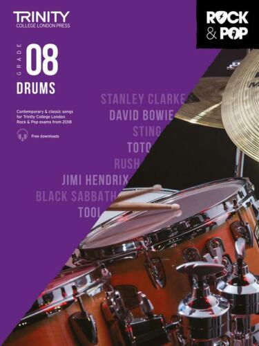 Trinity Rock and Pop 2018-20 Drums Grade 8  Drum Kit  Book Only TCL017062