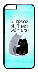 Cute-Funny-Cat-Life-Love-Quote-Pattern-For-iPhone-6-6s-Plus-5-5s-5c-4-Case-Cover