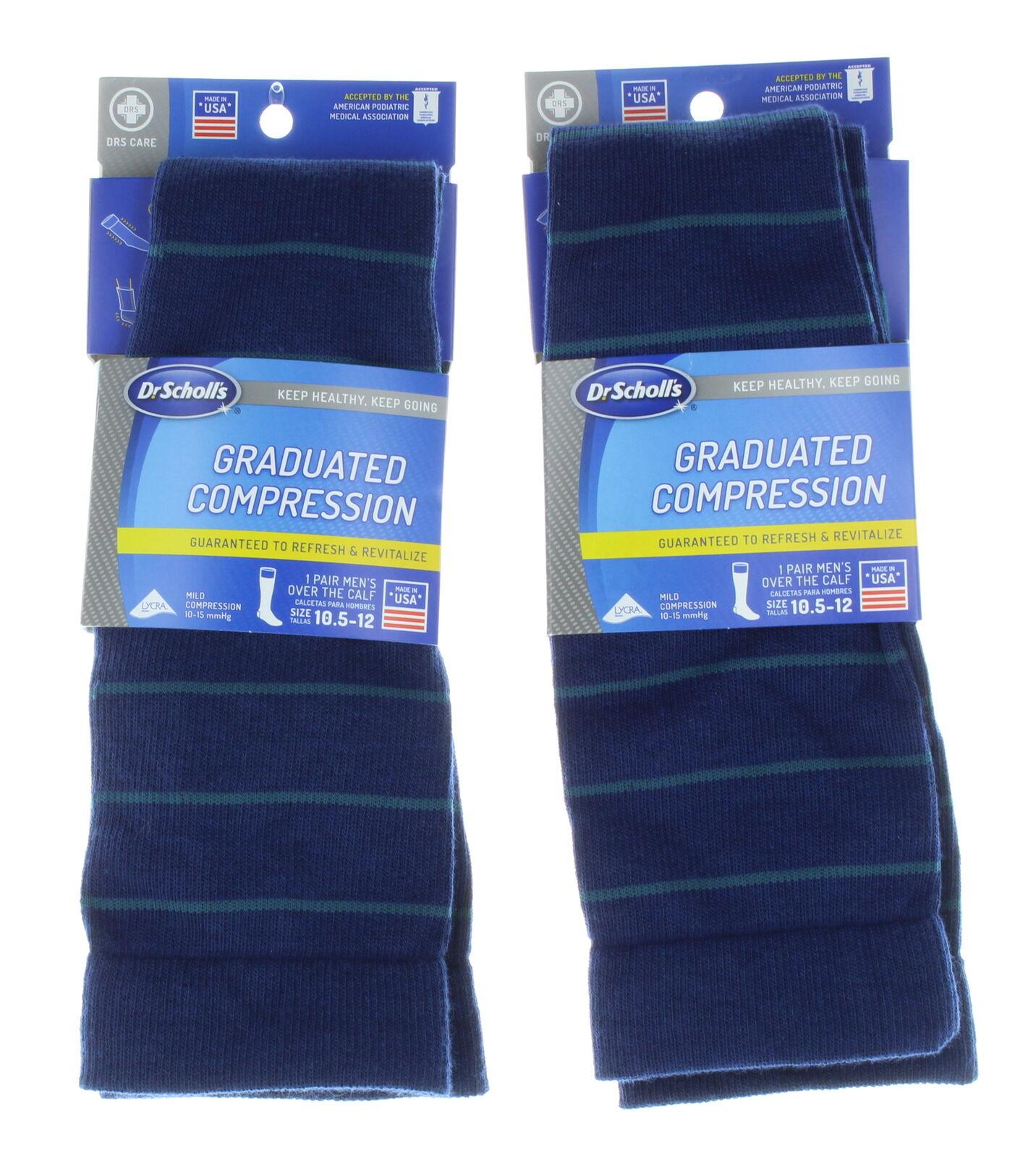 Dickies Mens Light Comfort Compression Over-The-Calf Socks