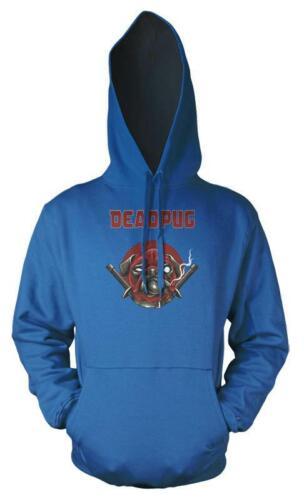Deadpug Deadpool Pug Mashup Adult Hoodie