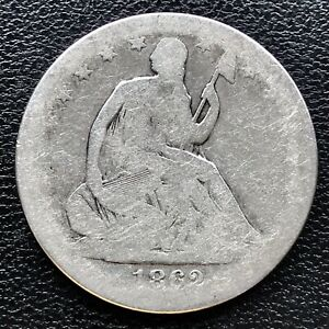 1862 S Seated Liberty Half Dollar 50c Better Date Circulated  #16737