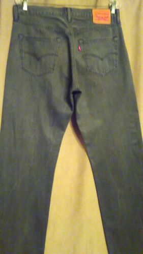 en Jeans 501 Levis Charcoal Button 34X denim Jeans Fly Gris Button dFvfdU