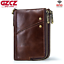Men-Genuine-Leather-Cowhide-Wallet-Bifold-RFID-Credit-Card-Holder-Zipper-Purse thumbnail 1