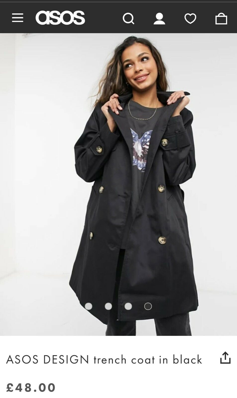 Women Trench Coat 10 brand new signed delivery. Asos