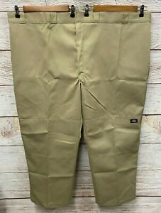 Dickies Flat front Work Pants Relaxed Straight Men Size 42X32  NWT Khaki Beige