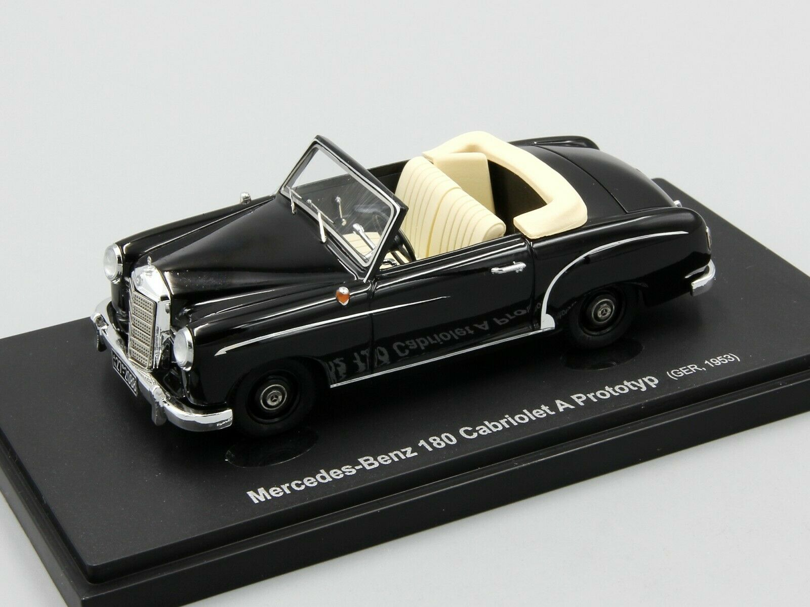 Autocult 1 43 Mercedes Mercedes Mercedes 180 Cabriolet A Predotyp, black, Germany, 1953 381