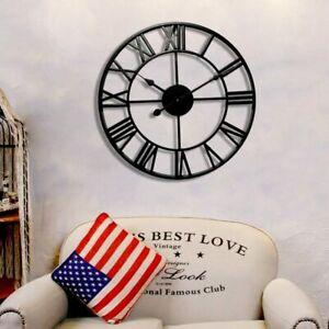 Large Indoor Outdoor Garden Wall Clock Roman Numerals
