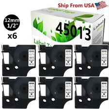 6 Pk Dymo 45013 Label Tape Use For Label Maker 160 Pc Pc2 Pnp Wireless Pnp