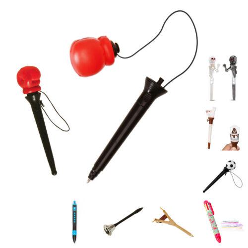 Spaß Kugelschreiber Scherz Kuli Funktionen Boxhandschuh Fußball Boxen lustig Klo