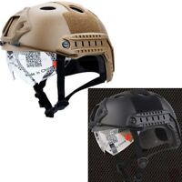 Tactical Airsoft Paintball Climbing Protective Swat Fast Helmet With Goggle