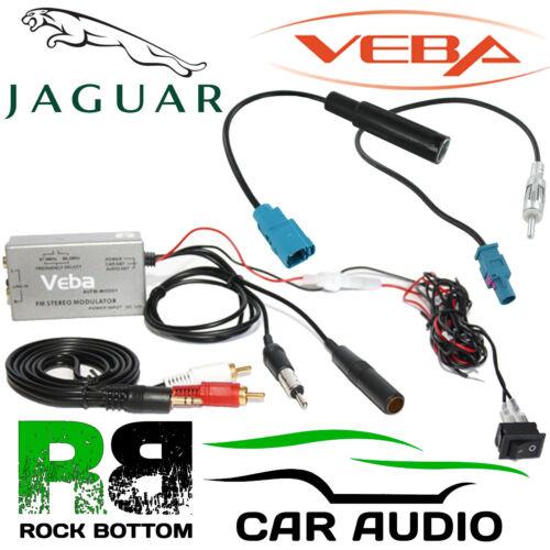 Jaguar coche AUX en Veba Radio Fm Modulador /& FAKRA Antenas Para Iphone Mp3 dispositivos