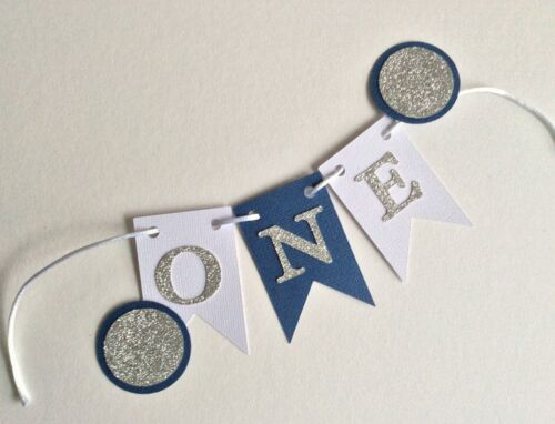 ONE TWO Birthday etc cake bunting cake topper- flags garland THREE