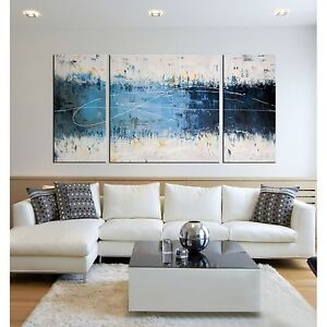 Beau Image Is Loading Canvas Wall Art Abstract Hand Painting 3 Piece