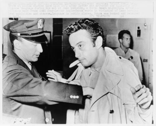 "8/"" x 10/"" 1961 Lenny Bruce,Being searched at Police Station"