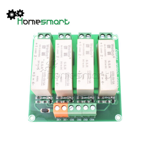 1//2//4//8 Kanal SSR Solid State Relay Low Trigger 5A 0-2V DC-DC for Arduino