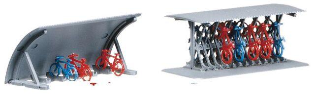 Faller 272535 Spur N, 2 Fahrradständer mit Fahrrädern, Bausatz, Neu