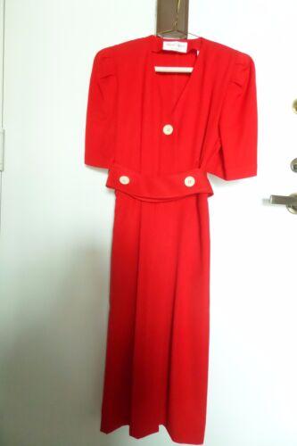 Vintage Red Albert Nipon Petite Size 2 Dress