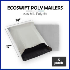 5 14x16 Ecoswift Poly Mailers Plastic Envelopes Shipping Mailing Bags 235mil