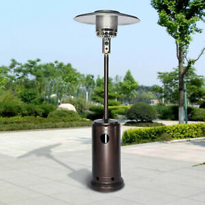 Commercial 48000 Btu Patio Heater Propane Outdoor Garden Heating Tall With Wheel Ebay