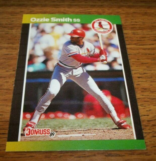 1989 Donruss St Louis Cardinals Baseball Card 63 Ozzie Smith
