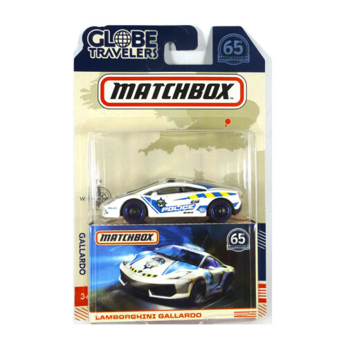 "Globe Travelers NEU!° Matchbox FHY45-85 Lamborghini Gallardo /""Police/"" weiss"