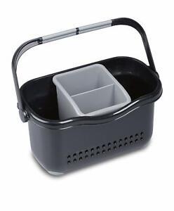 Sink-Tidy-Caddy-Cutlery-Kitchen-Holder-Rack-Plastic-Untensils-Organiser-Addis-BG