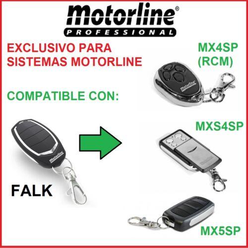 Válido solo en sistemas Motorline Mando garaje Motorline Falk remote control