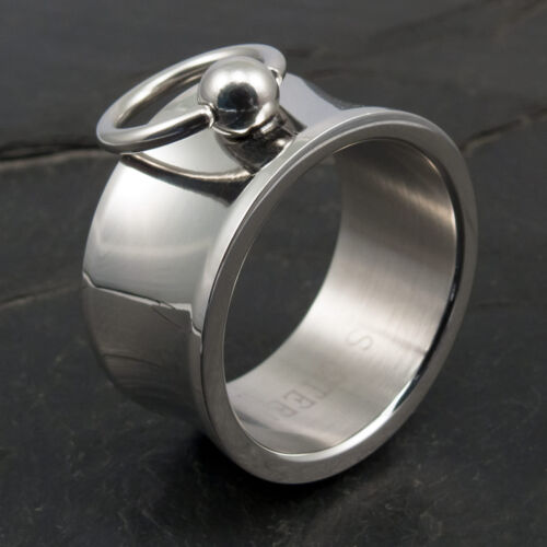 Ring of O Stainless Steel Silver Wide Slave Ring BDSM Jewelry risst032