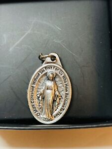 Miraculous-034-O-Mary-Conceived-Without-Sin-034-Medal-Pendant-Necklace-Made-in-Italy