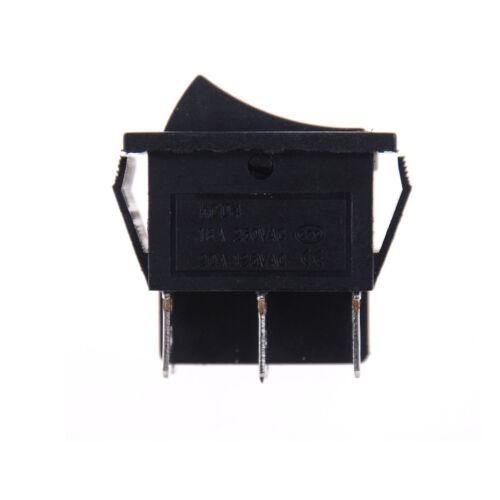 2PCS KCD4 Rocker Switch Black DPDT ON//OFF//ON 6 PIN 16A//250VAC 20A//125VAC PI