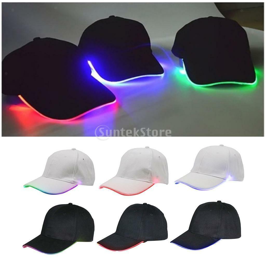 Fashion Ultra Bright LED Baseball Glühender Glasfaserhut