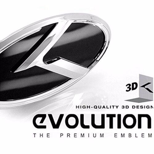 K Logo 3D Emblem 2pc SET Front Rear Fit: KIA 2011-2017 Optima K5