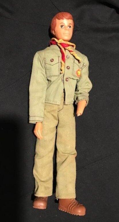 VINTAGE 1970S G I JOE  ACTION FIGURE Stiefel SCARF UNIFORM  Steve Scout by Kenner