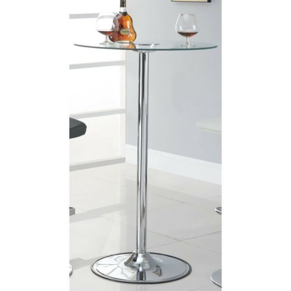 """42"""" Transitioning 6 Color LED Bar Table with Glass Top by Coaster 122400"""