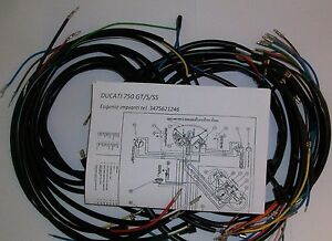 IMPIANTO-ELETTRICO-ELECTRICAL-WIRING-MOTO-DUCATI-BEVEL-750-GT-S-SS