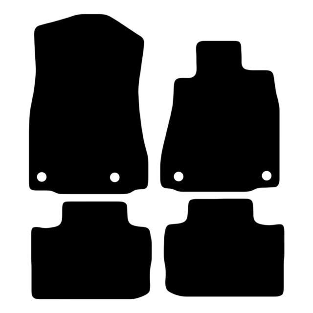 LEXUS IS300H 2013 ON HD RUBBER /& BLACK TRIM TAILORED CAR MATS