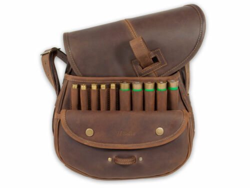 LEATHER HUNTING SHOOTING CARTRIDGE BAG BRAND NEW