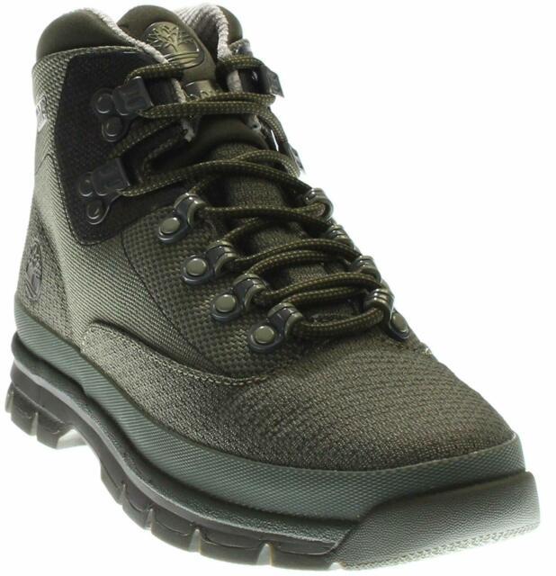 Men's Timberland JACQUARD EURO HIKER BOOTS, TB0A1A8A 768 Mult Sizes FOREST GREEN