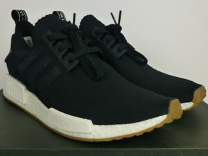 cheap for discount 5ae68 0b9a0 Image is loading adidas-NMD-R1-PK-Primeknit-Black-White-Gum-