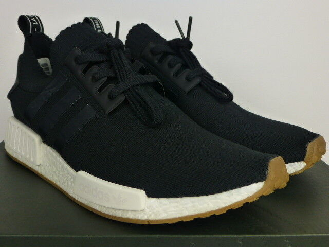 663b0dffe By1887 adidas NMD R1 PK Primeknit Black gum 12 for sale online