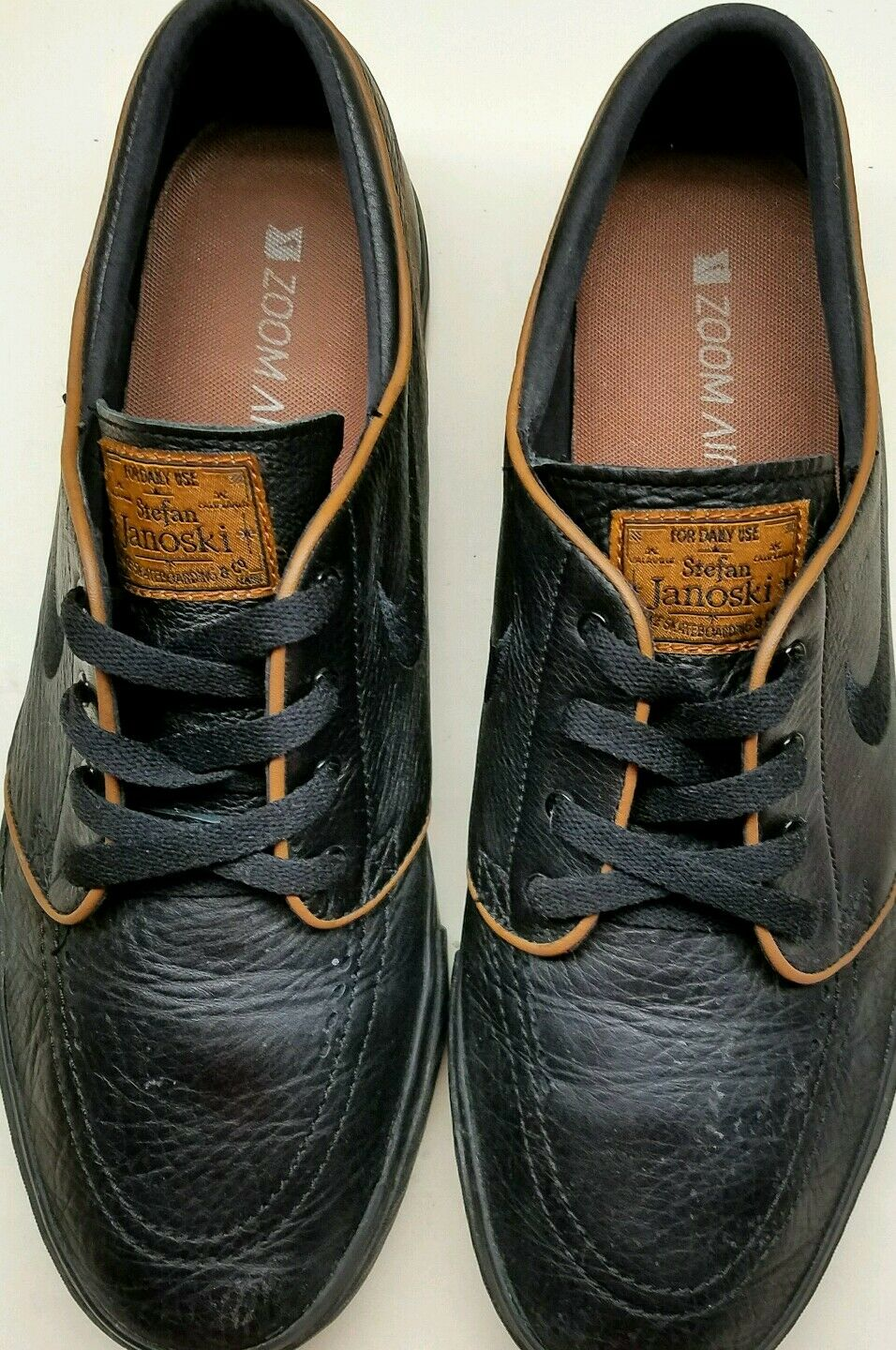 NIKE SB ZOOM STEFAN JANOSKI PREMIUM BLACK/PECAN  SIZE 11 1/2 New shoes for men and women, limited time discount