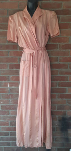 Vintage 1940s Pink Belted Wrapper/Dressing Gown Sa